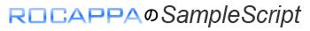 ROCAPPAのSampleScript